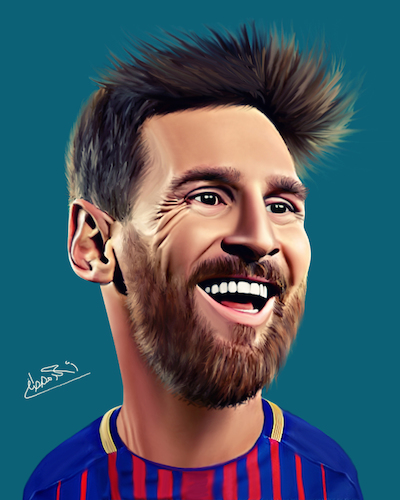 Cartoon: lionel messi (medium) by Ahmed Mostafa tagged lionel,messi