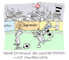 Cartoon: Coronafans (small) by Bregenwurst tagged coronavirus,pandemie,fußball,geisterspiele,androide,fans