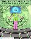 Cartoon: idol worship (small) by Cory Spencer tagged money,dollar,euro,god,believe