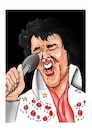 Cartoon: Elvis (small) by Thomas Vetter tagged elvis