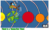 Cartoon: Travel to Corona free planet (small) by APPARAO ANUPOJU tagged traveling,free,corona,planet