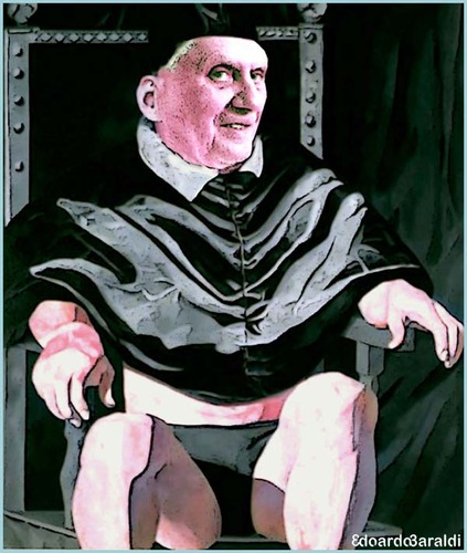 Cartoon: papa (medium) by edoardo baraldi tagged benedettoxvi,ratzinger