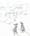 Cartoon: memento mori (small) by herranderl tagged nachts,im,museum