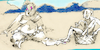 Cartoon: Sommerfrische (small) by herranderl tagged sommer,hitze,krokodile