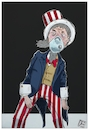 Cartoon: America sul precipizio (small) by Christi tagged america,coronavirus,covid,precipizio,lockdown