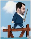 Cartoon: Disobbedienti (small) by Christi tagged salvini,sindaci,decretosicurezza