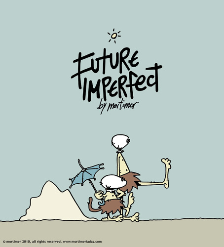 Cartoon: future imperfect (medium) by mortimer tagged rewilderness,involution,primitivism,desert,mortimeriadas,mortimer,postapochalyptic,imperfect,future,illustration,zukunft