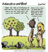 Cartoon: adam eve and god 10 (small) by mortimer tagged mortimer mortimeriadas cartoon comic gag adam eve god bible paradise eden biblical christian original sin sex nude toons hairy belly blonde