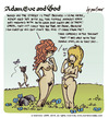 Cartoon: adam eve and god 13 (small) by mortimer tagged mortimer mortimeriadas cartoon comic gag adam eve god bible paradise eden biblical christian original sin sex nude toons hairy belly blonde