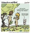 Cartoon: adam eve and god 19 (small) by mortimer tagged mortimer mortimeriadas cartoon comic gag adam eve god bible paradise eden biblical christian original sin sex nude toons hairy belly blonde snake apple