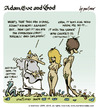 Cartoon: adam eve and god 21 (small) by mortimer tagged mortimer mortimeriadas cartoon comic gag adam eve god bible paradise eden biblical christian original sin sex nude toons hairy belly blonde