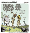 Cartoon: adam eve and god 28 (small) by mortimer tagged mortimer mortimeriadas cartoon comic gag adam eve god bible paradise eden biblical christian original sin sex nude toons hairy belly blonde
