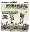 Cartoon: Adam Eve and God 39 (small) by mortimer tagged mortimer,mortimeriadas,cartoon,comic,biblical,adam,eve,god,snake,paradise,bible