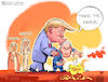 Cartoon: Make me proud (small) by Nasif Ahmed tagged donaldtrump,benjaminnetanyahu,israel,unitedarabemirates,bahrain,abdullahbinzayed