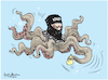 Cartoon: ISIS attackes to Sri Lanka. (small) by Sajith Bandara tagged isis,attack