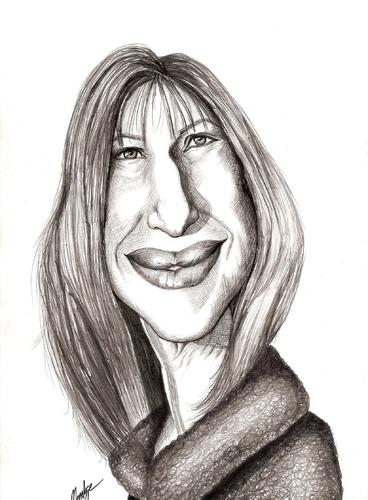 Cartoon: Barbara Streisand (medium) by menekse cam tagged barbara,streisand,singer,actrees,producer,director,american,usa,woman,in,love