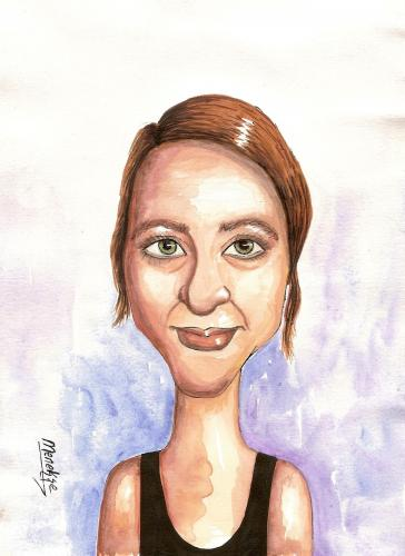 Cartoon: Beate K. (medium) by menekse cam tagged portrait