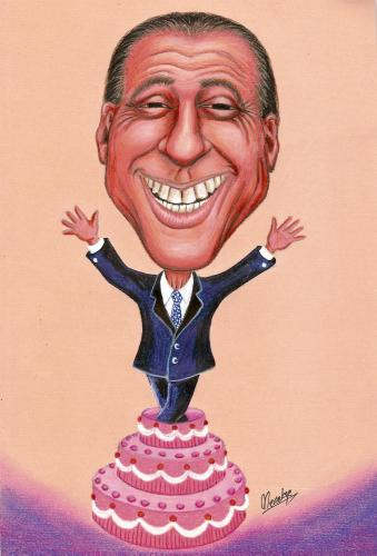 Cartoon: Berlusconi (medium) by menekse cam tagged berlusconi,portrait