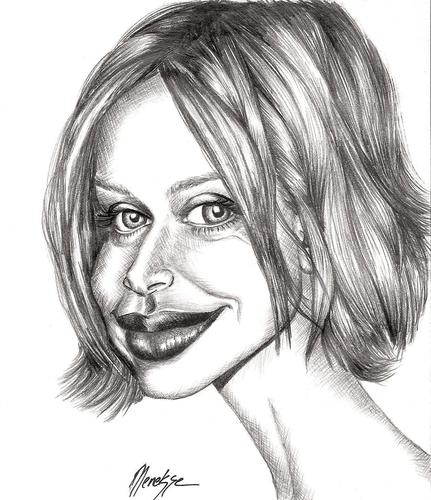 Cartoon: Calista FLOCKHART (medium) by menekse cam tagged calista,flockhart,american,actriss