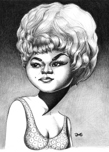 Cartoon: Etta James (medium) by menekse cam tagged jazz,gospel,roll,rock,and,soul,blues,singer,american,james,etta