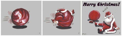 Cartoon: He is coming... 2 (medium) by menekse cam tagged year,new,christmas,merry,coming,is,claus,santa