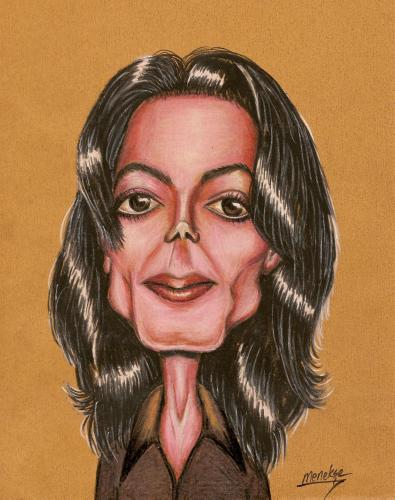 Cartoon: Michael (medium) by menekse cam tagged singer,man,portrait,michael,jackson