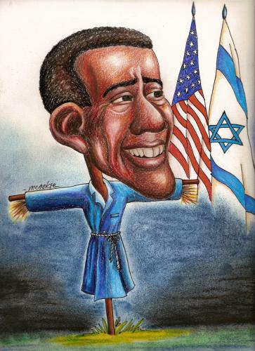 Cartoon: Obama (medium) by menekse cam tagged america,israel,obama