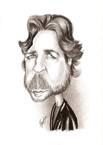 Cartoon: Russell Crowe (medium) by menekse cam tagged australia,zealand,new,actor,crowe,russell
