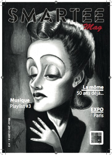 Cartoon: Smartee Mags cover (medium) by menekse cam tagged france,singer,piaf,edith,cover,art,paris,french,magazine,mag,smartee