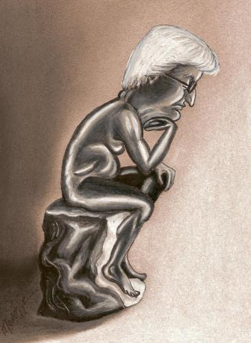 Cartoon: Steinmeier (medium) by menekse cam tagged steinmeier,merkel,rodin,thinking,man,germany