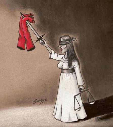 Cartoon: The trousers lawsuit (medium) by menekse cam tagged lübna,hüseyin,trousers,lawsuit,sudan,woman,journalist,freedom