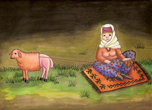 Cartoon: Villager woman (medium) by menekse cam tagged woman