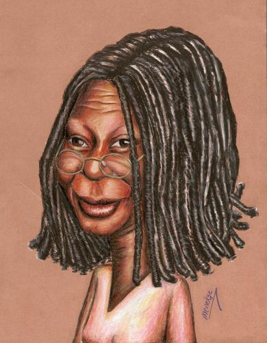 Cartoon: Whoopi G. (medium) by menekse cam tagged portrait
