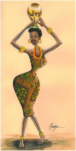 Cartoon: World Cup 2010 AFRICA-2 (medium) by menekse cam tagged world,cup,2010,africa,football,african,woman