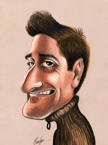 Cartoon: Xavi (medium) by menekse cam tagged caricaturist,catalan,reus,spain,ramisa,salvador,xavier