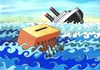 Cartoon: Elections (small) by menekse cam tagged election,sinking,ship,ballot,box,galley,slaves