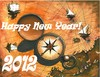Cartoon: Happy New Year! (small) by menekse cam tagged wish,peace,health,happiness,success,luck,new,year