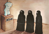 Cartoon: no title (small) by menekse cam tagged museum,women,woman,sculpture,mö,bc,islam,islamic,religion,cover
