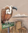 Cartoon: Wall Street (small) by menekse cam tagged wall,street,vulture,economy,stock,market,usa,bird