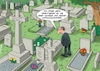 Cartoon: Am Friedhof (small) by C Berger tagged hypochonder,friedhof,krankheit