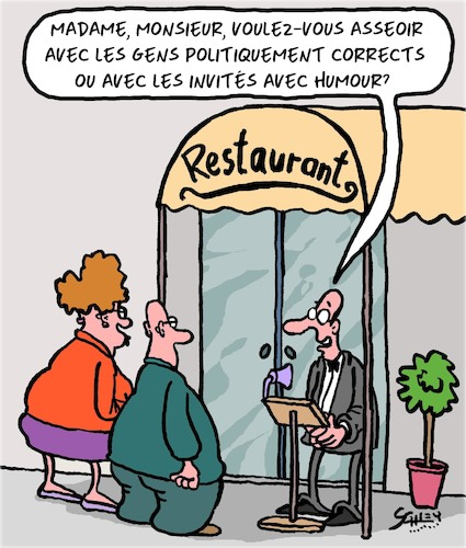 Cartoon: Au resto (medium) by Karsten tagged gastronomie,restaurants,politiquement,correct,humour,liberte,expression,gastronomie,restaurants,politiquement,correct,humour,liberte,expression