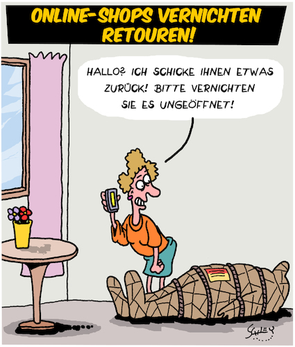 Cartoon: Retouren (medium) by Karsten tagged internet,onlineshopping,wirtschaft,transport,pakete,service,business,resourcen,internet,onlineshopping,wirtschaft,transport,pakete,service,business,resourcen