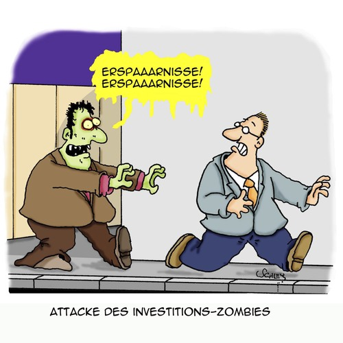 Cartoon: ZOMBIE!!! (medium) by Karsten tagged sparer,ersparnisse,investitionen,banken,banker,investmentbanker,geld,rendite,wirtschaft,business,sparer,ersparnisse,investitionen,banken,banker,investmentbanker,geld,rendite,wirtschaft,business