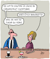 Cartoon: Biologiste? (small) by Karsten tagged changement,climatique,brasseries,hommes,femmes,professions