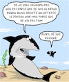 Cartoon: Blanc et Raciste? (small) by Karsten tagged racisme,nationalisme,politique,nutrition,proies,animaux,requins