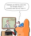 Cartoon: Dangereux!! (small) by Karsten tagged coronavirus,medias,television,hysterie,sante,medical,masques