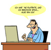 Cartoon: Dasein (small) by Karsten tagged philosophie,internet,computer,breitband,flatrates,spam
