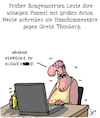Cartoon: Hass! (small) by Karsten tagged internet,facebook,hasskommentare,greta,thunberg,umwelt,klimawandel