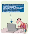 Cartoon: Intelligence (small) by Karsten tagged facebook,internet,commentaires,education,haine