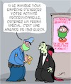 Cartoon: Masques (small) by Karsten tagged coronavirus,covid19,masques,sante,professions,societe,politique,vampires
